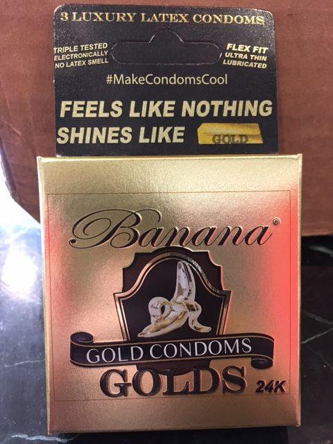 Banana Golds Condoms 3 pk
