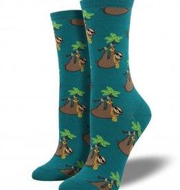 socksmith sloth bling socks teal