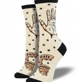 socksmith palmistry socks heathered ivory
