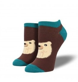 socksmith hedgie shortie socks brown and teal