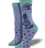 socksmith cheshire cat bamboo socks hyacinth blue