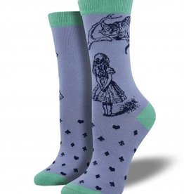 socksmith socksmith cheshire cat bamboo socks hyacinth blue