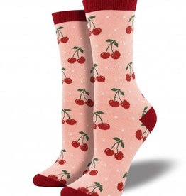socksmith cherry bamboo socks blush