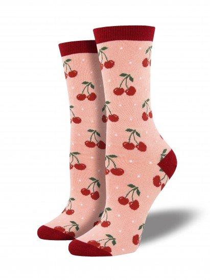 socksmith cherry bamboo socks blush