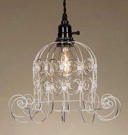 ctw romantic white shabby pendant lamp