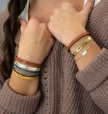 laurel denise brown leather bracelet