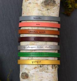 laurel denise coral leather bracelet