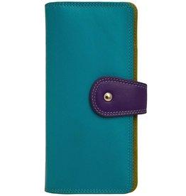 intercontinental leather (IL) ili multi colored wallet clutch