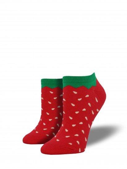 socksmith socksmith strawberry shortie socks red