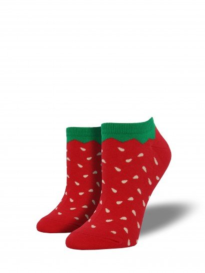 socksmith strawberry shortie socks red