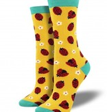 socksmith ladybug bamboo socks bright yellow
