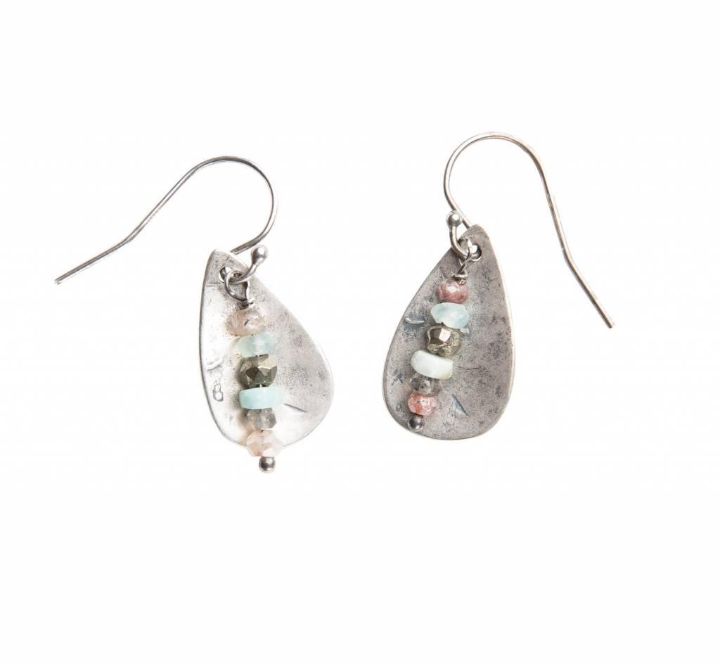 original hardware sterling silver teardrop sedona mix earrings