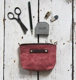 peg and awl small waxed canvas pouch