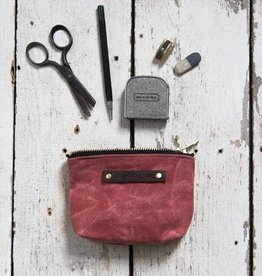 peg and awl peg and awl small waxed canvas pouch