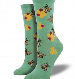 socksmith busy bees socks seafoam