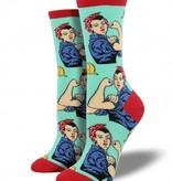 socksmith rosie the riveter socks