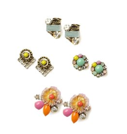 jill schwartz pastel and spring stud earrings