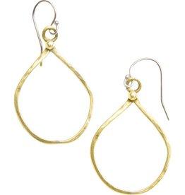 original hardware original hardware organic teardrop yellow bronze earrings