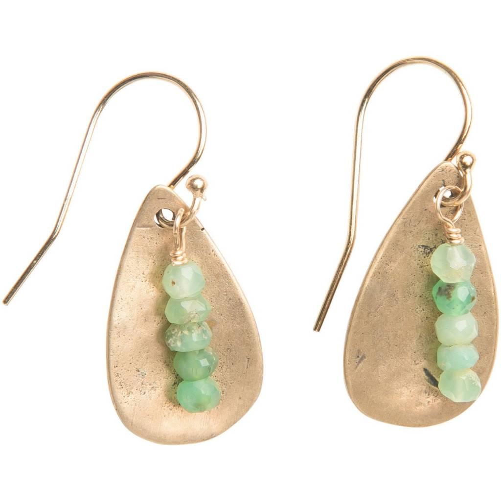 original hardware chrysoprase teardrop earrings
