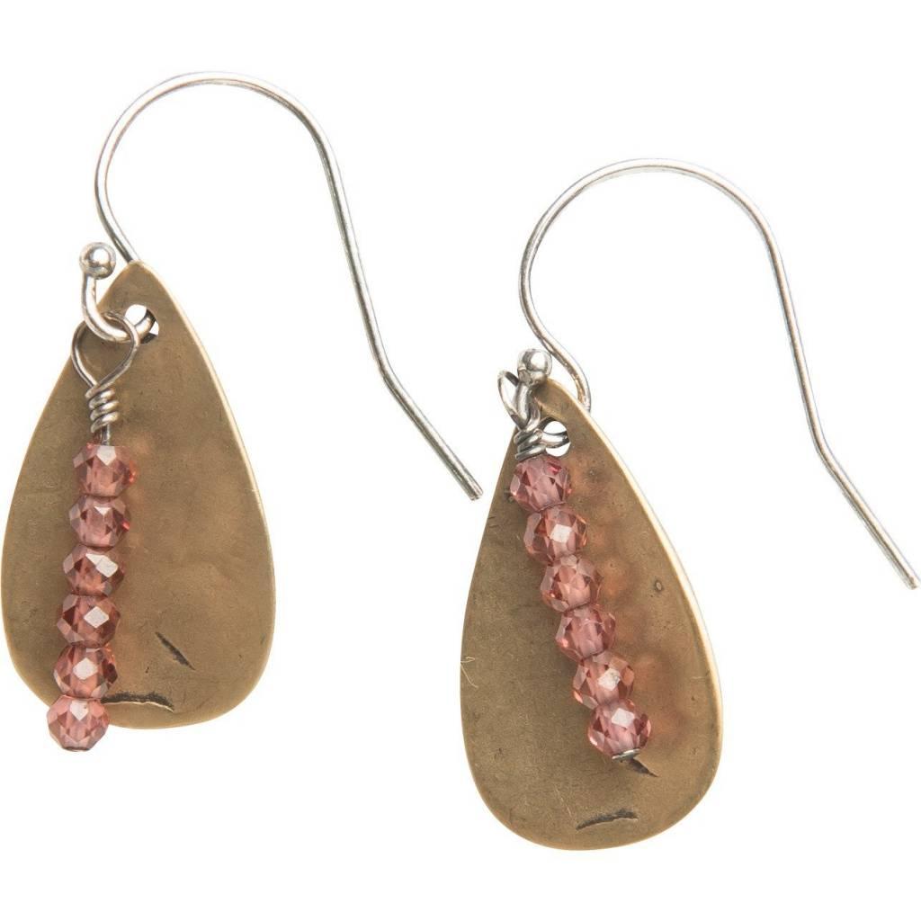 original hardware red garnet teardrop earrings