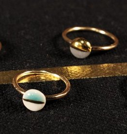 mier luo mier lou gold dipped ring