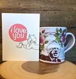 justin rothshank justin rothshank icon mug Bernie with pink flowers