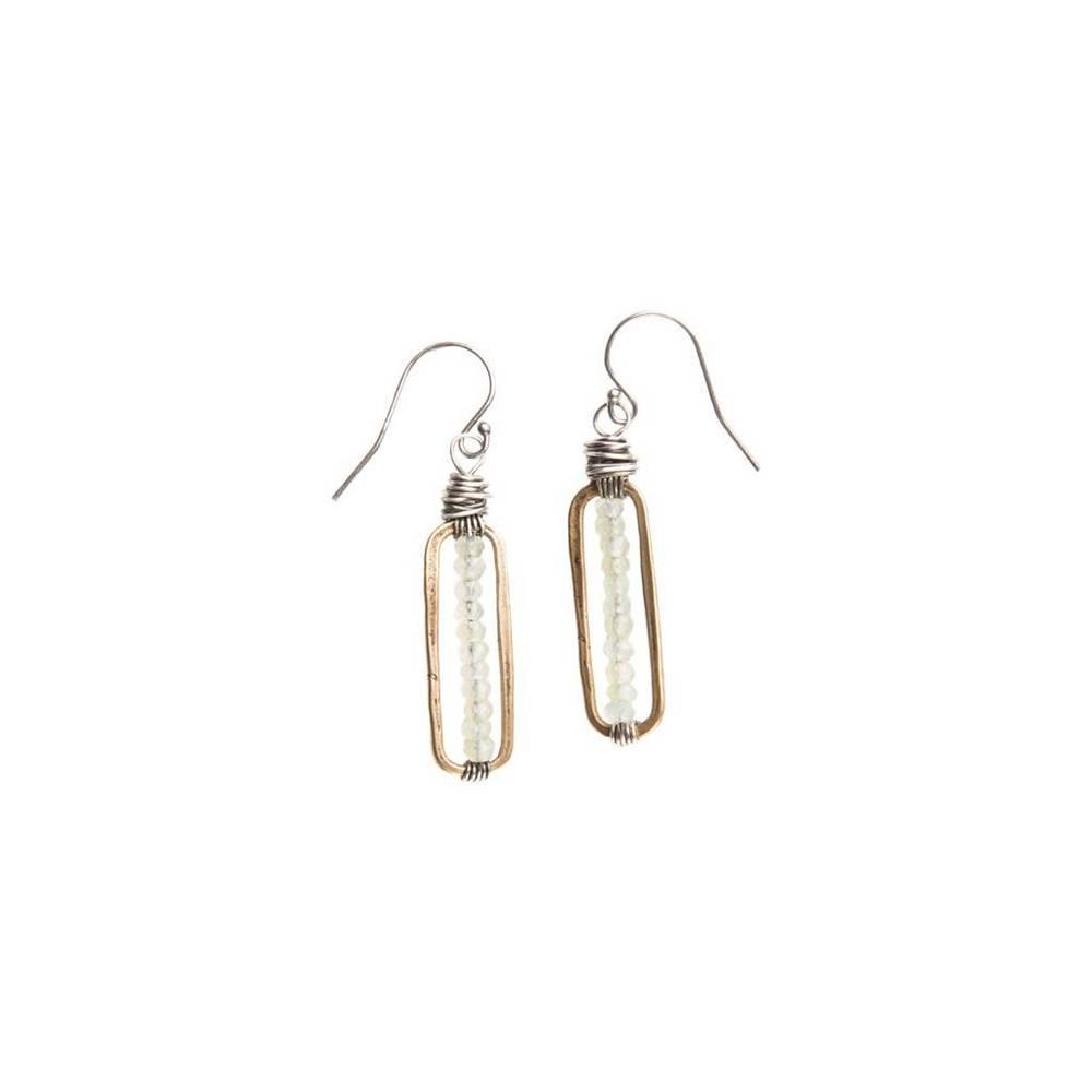 original hardware chalcedony bar earrings