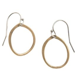 original hardware original hardware everyday satin yellow bronze mixed metal drop earring