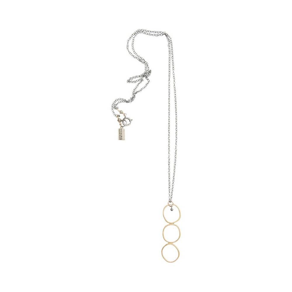 original hardware triple yellow bronze circle necklace