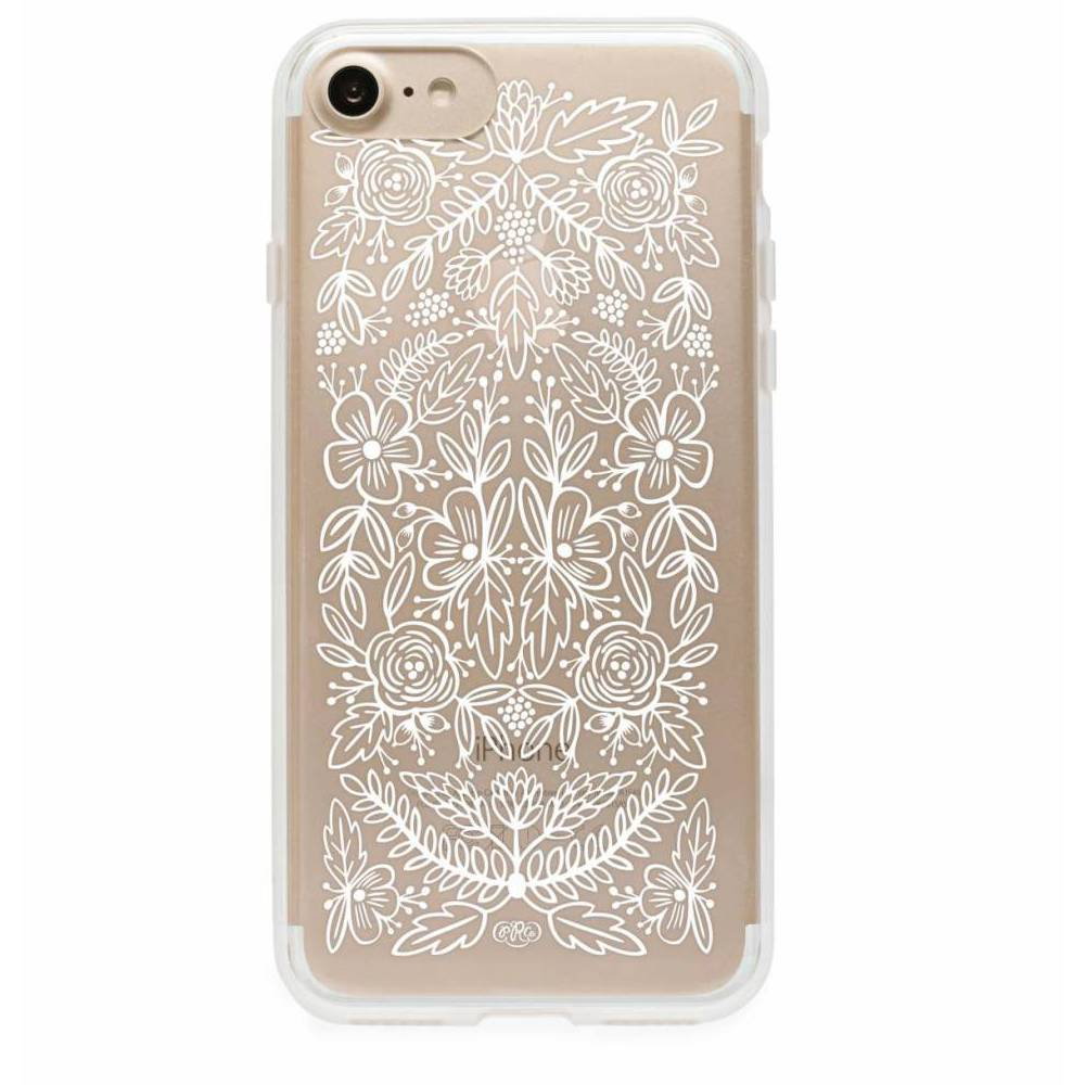 rifle paper iphone 6 case clear floral lace