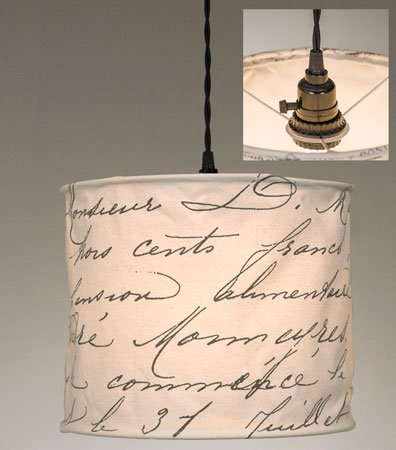 ctw vintage handwriting pendant lamp