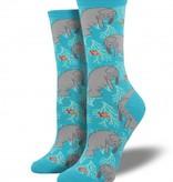 socksmith oh the hu-manatee socks bright blue