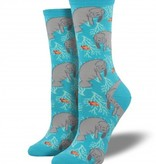 socksmith socksmith oh the hu-manatee socks bright blue