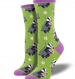 socksmith socksmith bashful badger socks field green