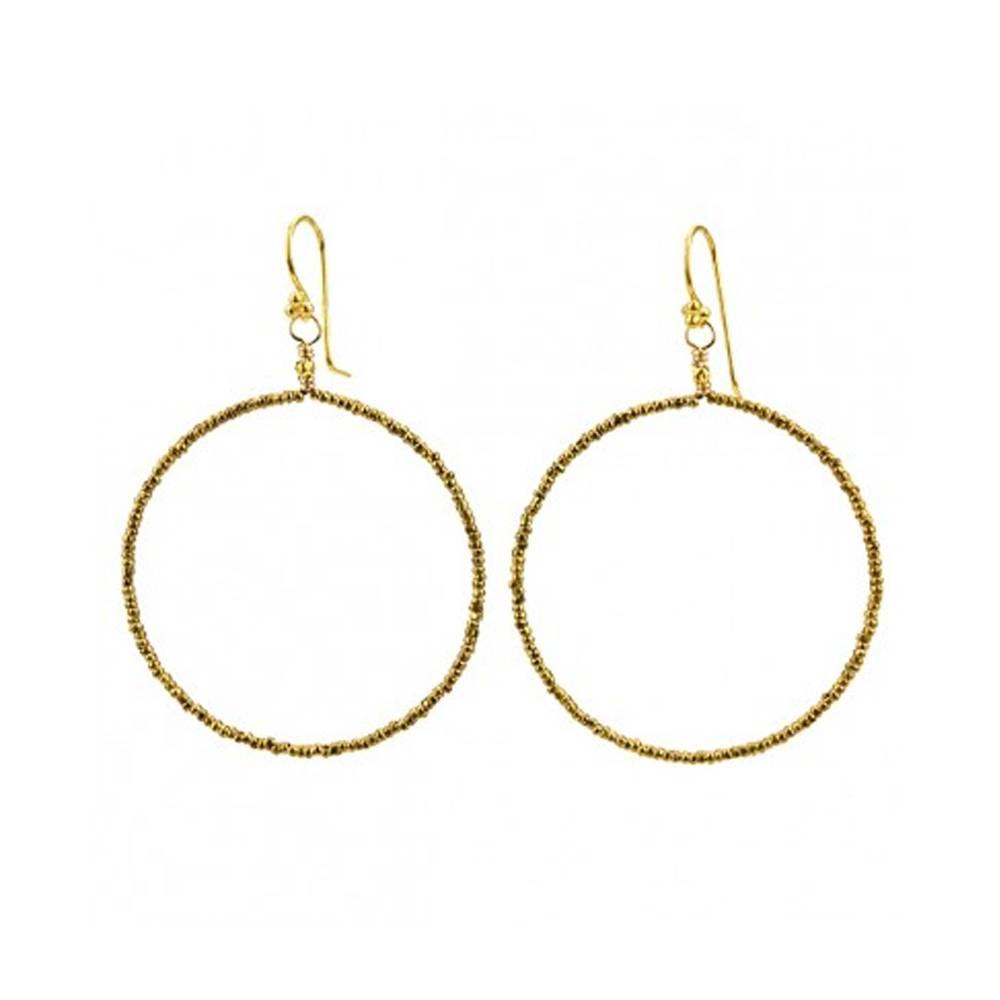 robindira unsworth signature brass hoops