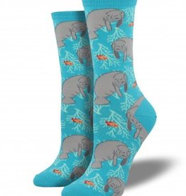 socksmith socksmith oh the hu-manatee socks bright blue
