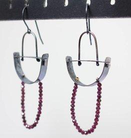 eric silva eric silva half circle earrings