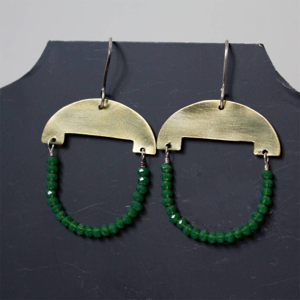 eric silva eric silva half moon earrings brass