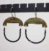 eric silva half moon earrings brass