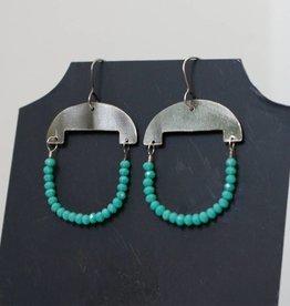 eric silva eric silva half moon earrings silver