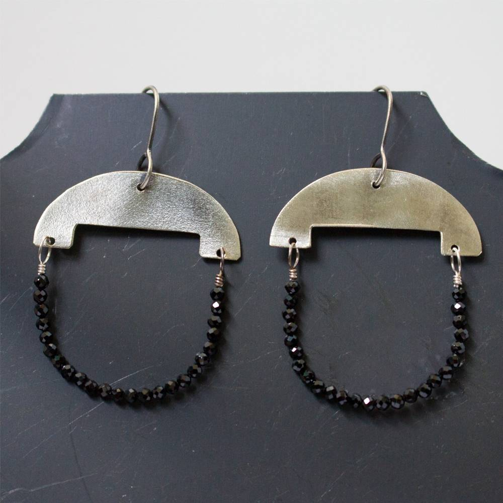 eric silva half moon earrings silver