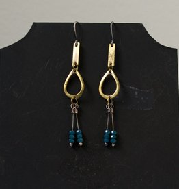 eric silva eric silva open oval brass apatite earrings