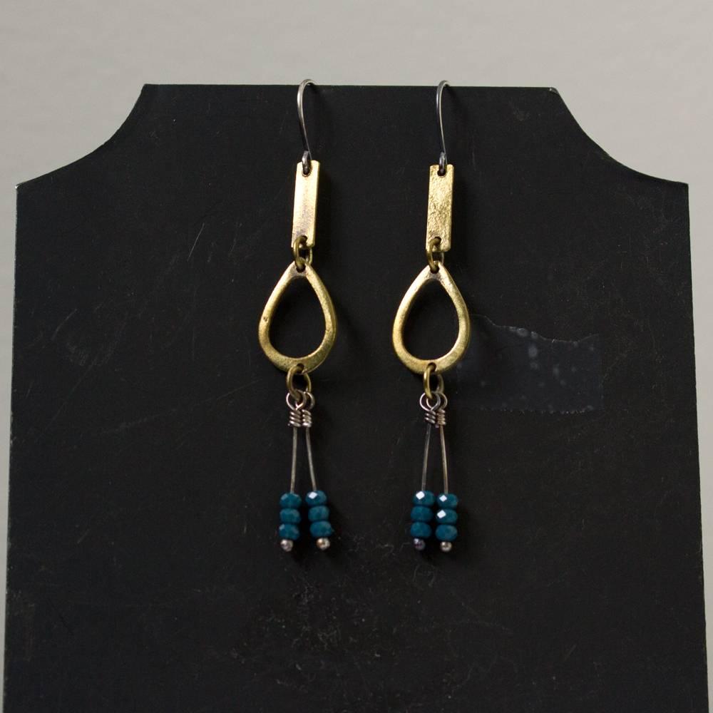 eric silva open oval brass apatite earrings