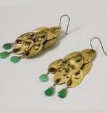 eric silva octopus earrings chrysoprase