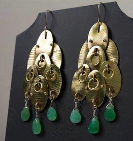 eric silva eric silva octopus earrings chrysoprase