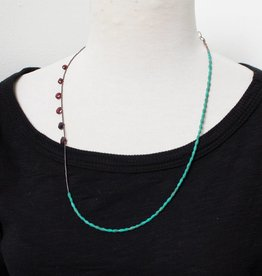 eric silva eric silva simple turquoise & garnet necklace