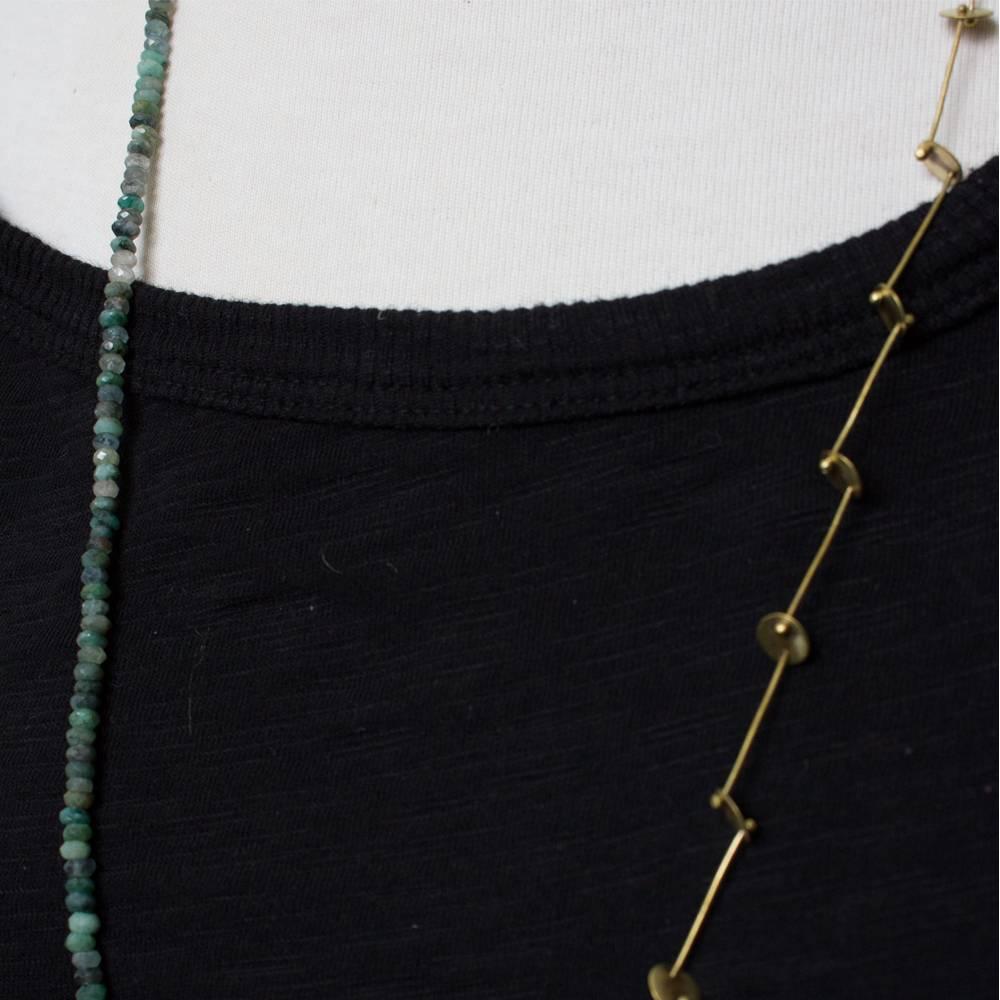 eric silva long barnacle necklace aquas