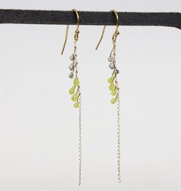 jess panza jess panza yellow green/grey fiber optic earrings