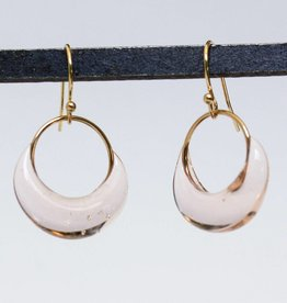 jess panza pale beige sparkletts earrings