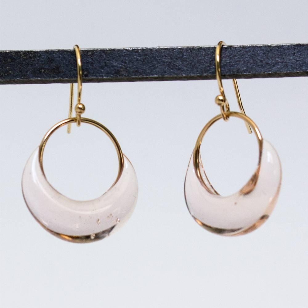 jess panza pale beige sparkletts earrings
